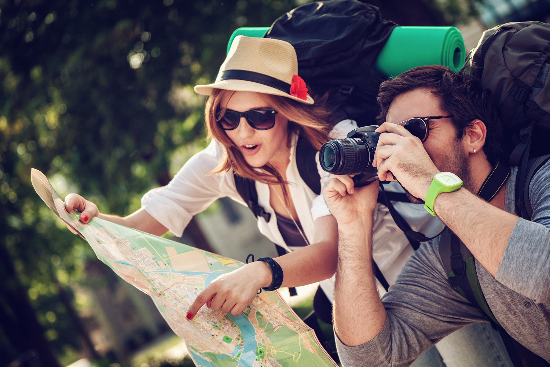 How to travel with paper map